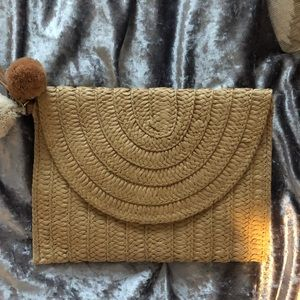 Old Navy clutch with removable pompoms
